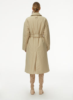 Clyde Padding Trench With Removable Belt Tan-3