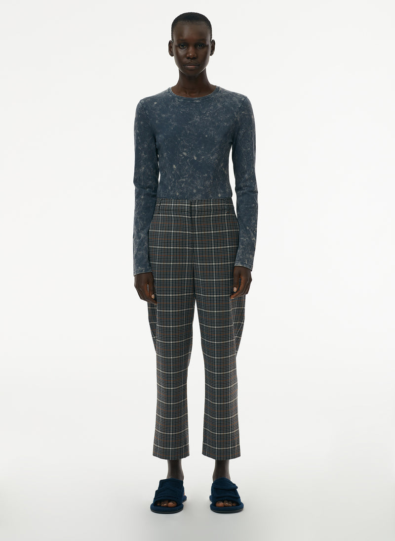 Gabe Menswear Suiting Taylor Midrise Pant Grey Multi-1