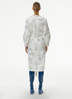 Lumiere Print Shirtdress With Removable Belt White Print Multi-3
