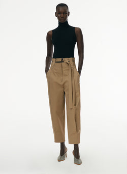 Myriam Twill Double Waistband Sculpted Pant Khaki-6