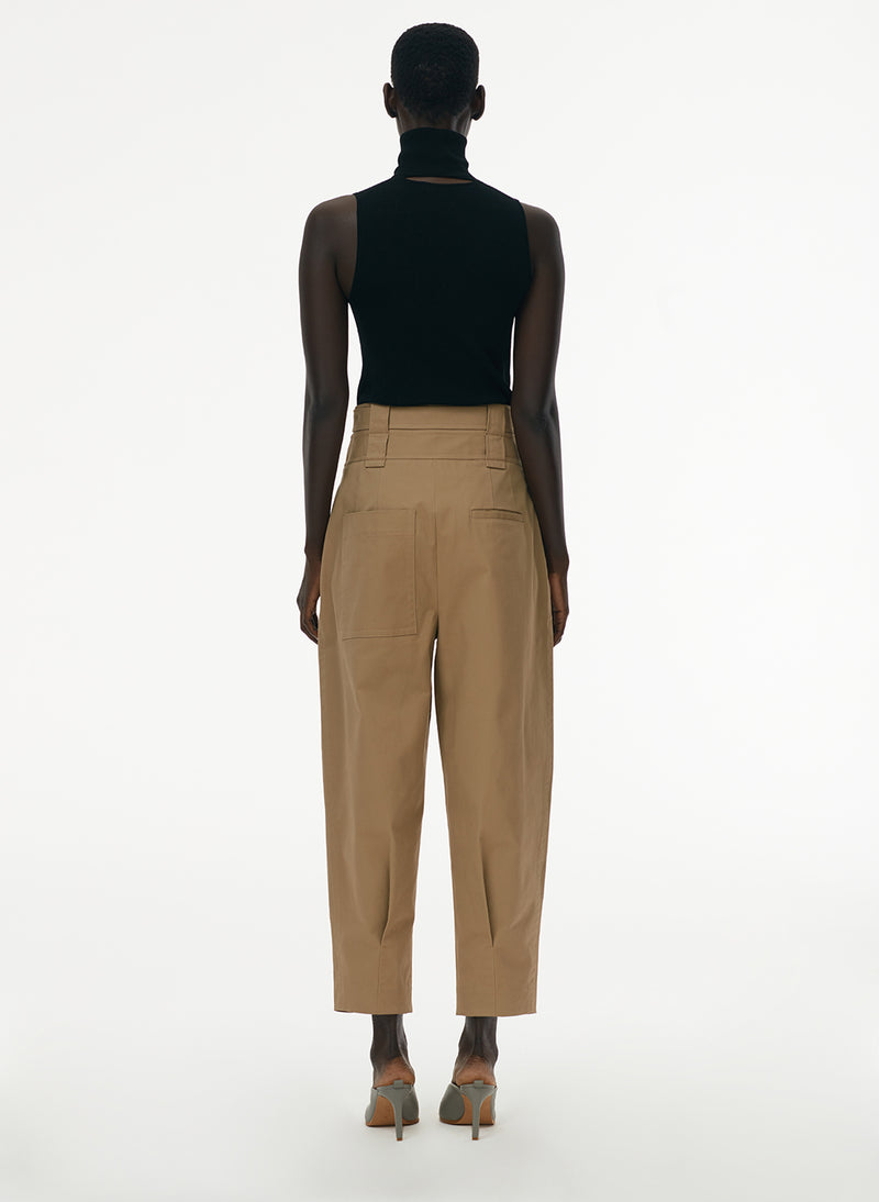 Myriam Twill Double Waistband Sculpted Pant Khaki-3
