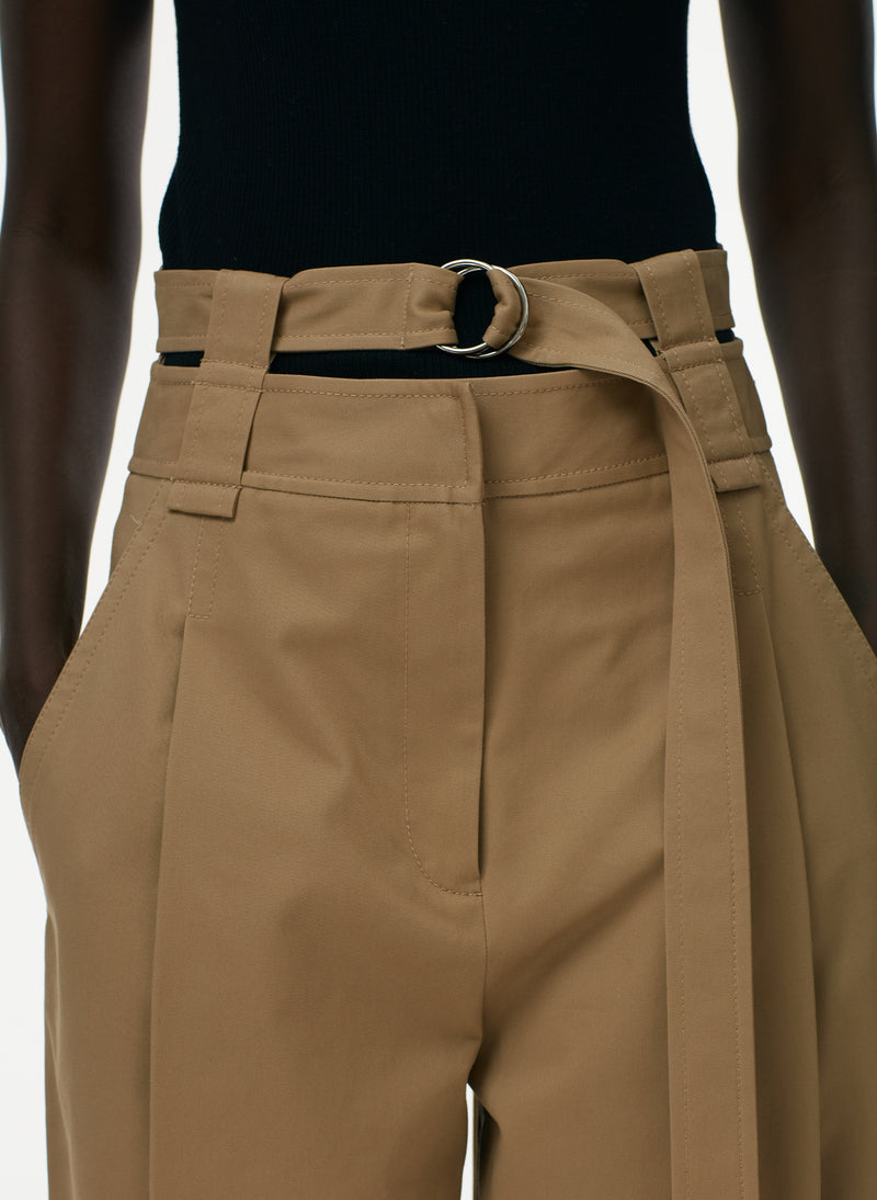 Myriam Twill Double Waistband Sculpted Pant Khaki-4