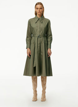 Eco Poplin Corset Shirtdress With Removable Belt Eco Poplin Corset Shirtdress With Removable Belt
