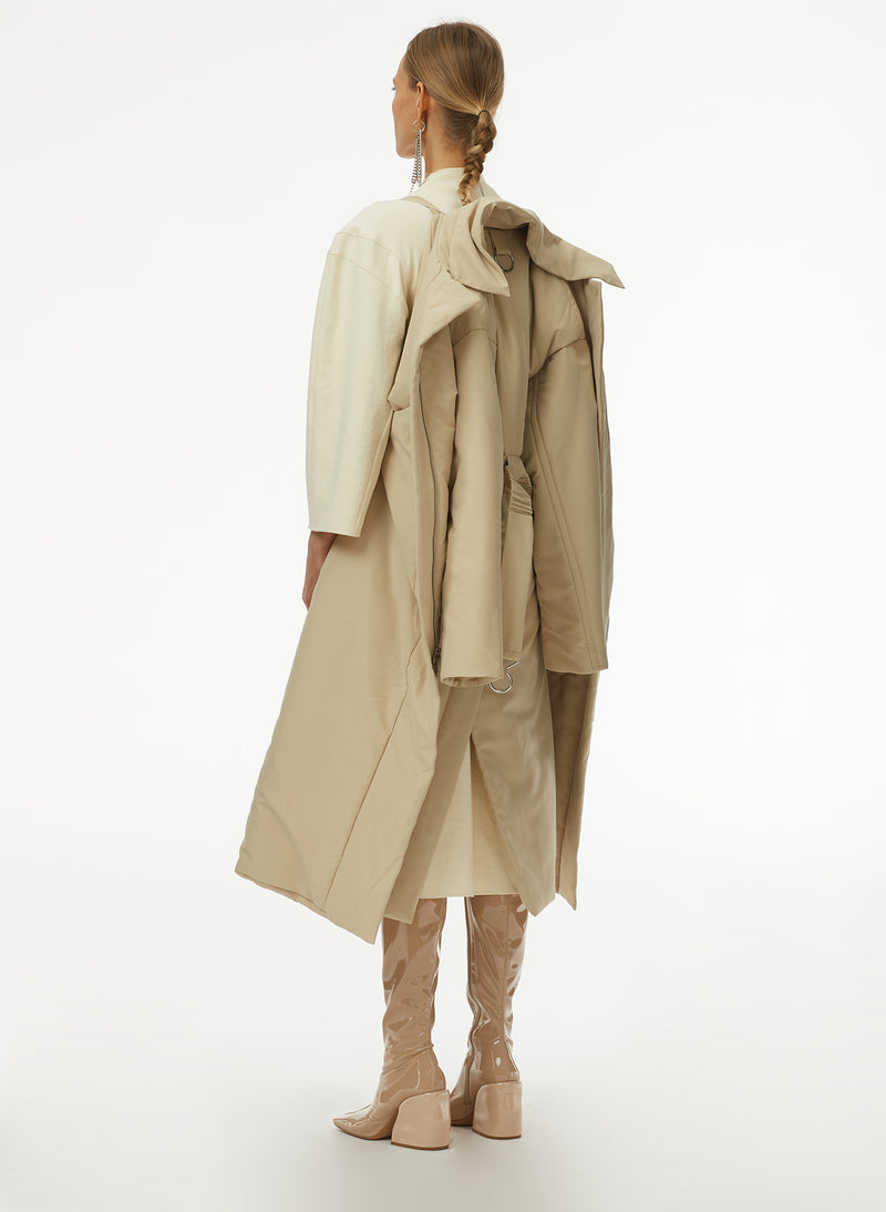 Clyde Padding Trench With Removable Belt Clyde Padding Trench With Removable Belt