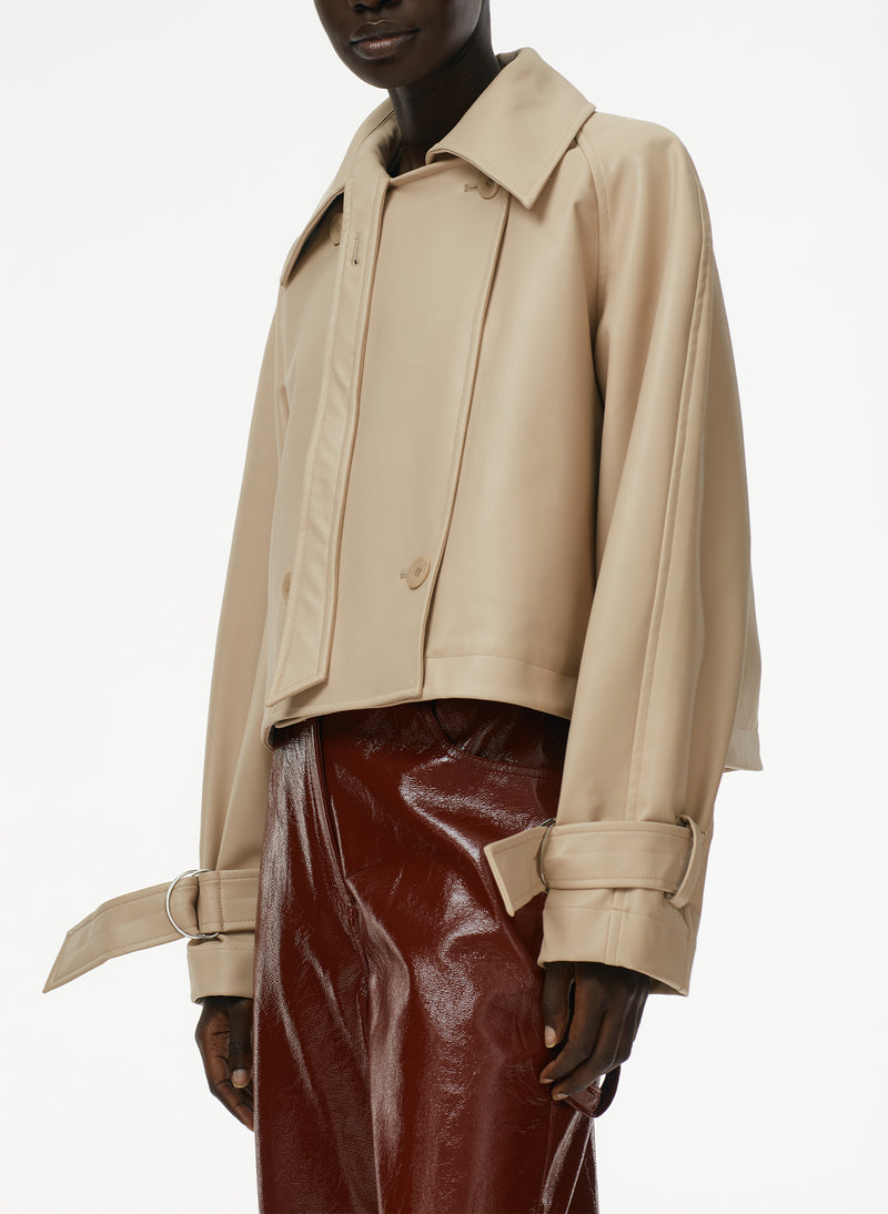 Vegan Leather Convertible Trench Vegan Leather Convertible Trench