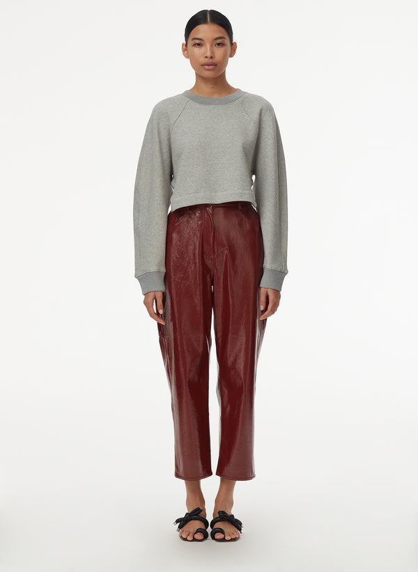 Patent Cropped Carpenter Pant