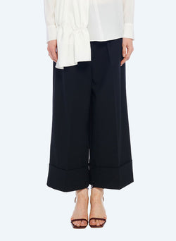 Anson Stretch Cuffed Tuxedo Pant Black-1