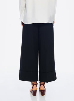 Anson Stretch Cuffed Tuxedo Pant Black-4