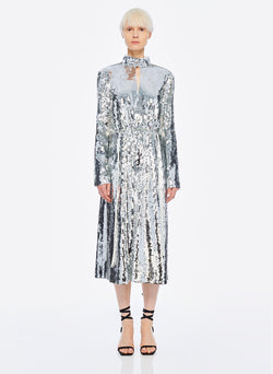 Sequin Dress Ivory/Silver Multi-1