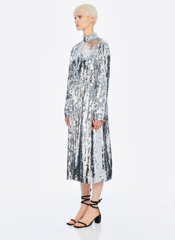 Sequin Dress Ivory/Silver Multi-2