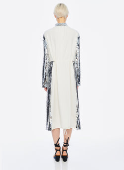 Sequin Dress Ivory/Silver Multi-3