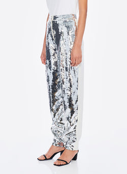 Sequin Pant Ivory/Silver Multi-2