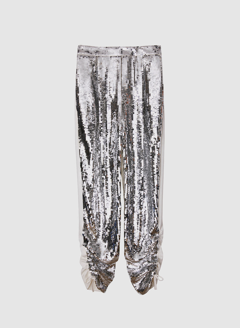 Sequin Pant Ivory/Silver Multi-8