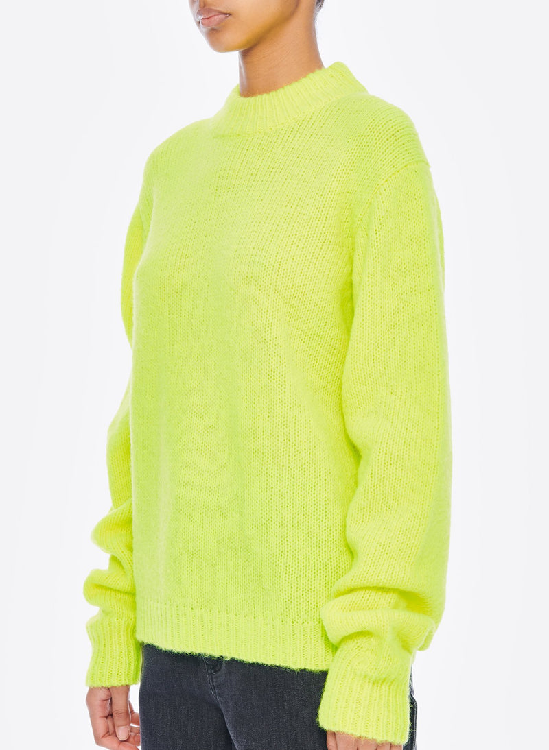 Cozette Alpaca Pullover Lemon Yellow-8