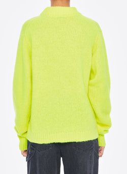 Cozette Alpaca Pullover Lemon Yellow-9