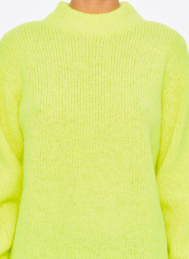 Cozette Alpaca Pullover Lemon Yellow-10