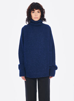 Cozette Alpaca Turtleneck Dickey Navy-4
