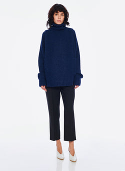 Cozette Alpaca Turtleneck Dickey Navy-6