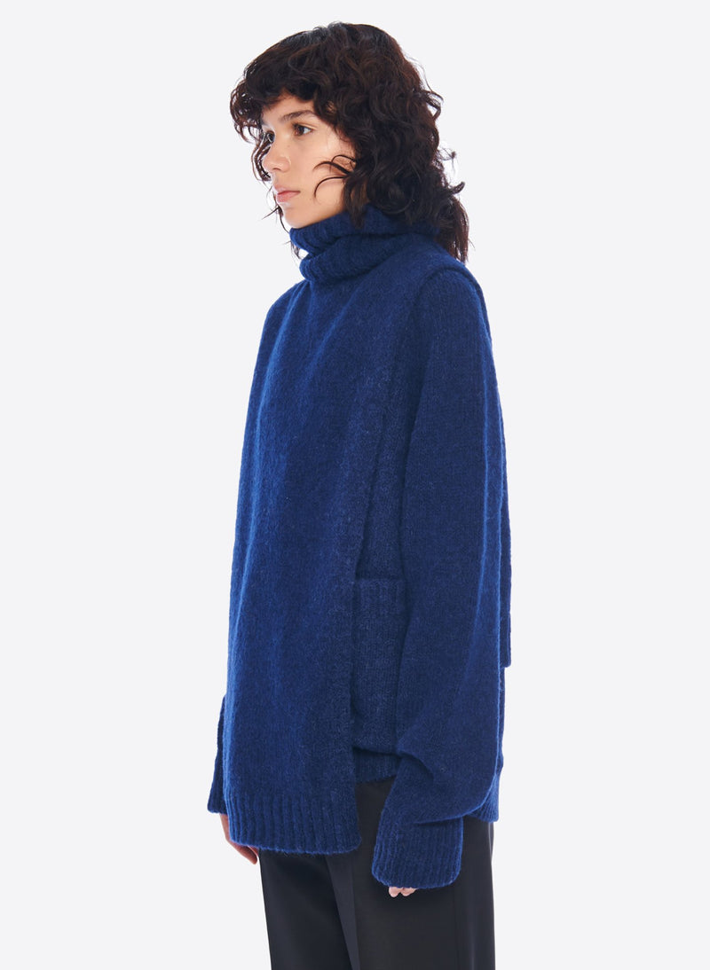 Cozette Alpaca Turtleneck Dickey Navy-5