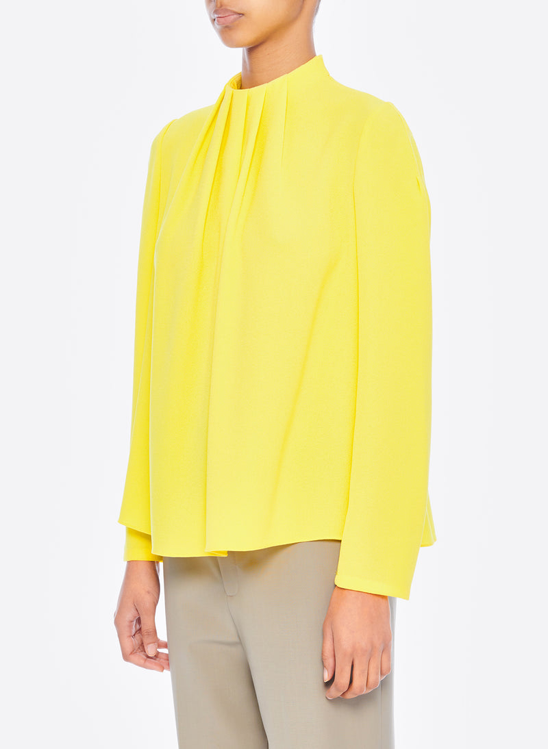 Esme Crepe Shirred High Neck Top Esme Crepe Shirred High Neck Top