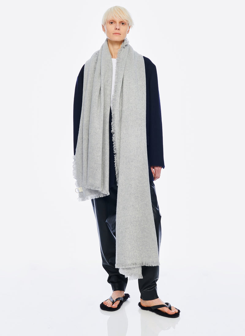 Fringe Scarf Heather Grey-1