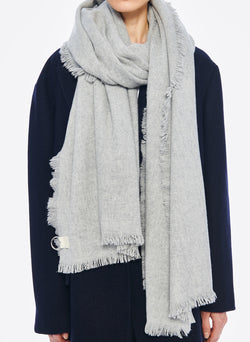 Fringe Scarf Heather Grey-3