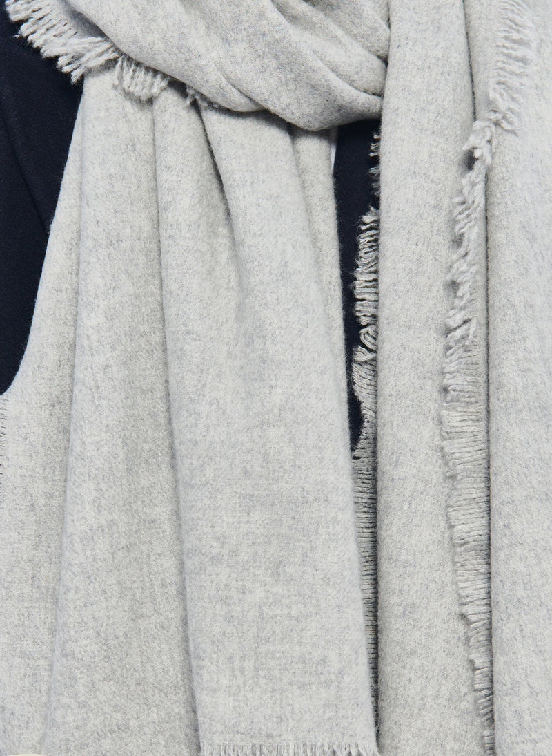 Fringe Scarf Heather Grey-4