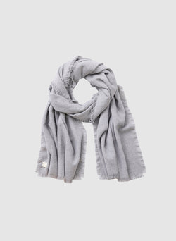 Fringe Scarf Heather Grey-8