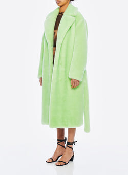 Luxe Faux Fur Oversized Coat Mint-2