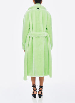 Luxe Faux Fur Oversized Coat Mint-3