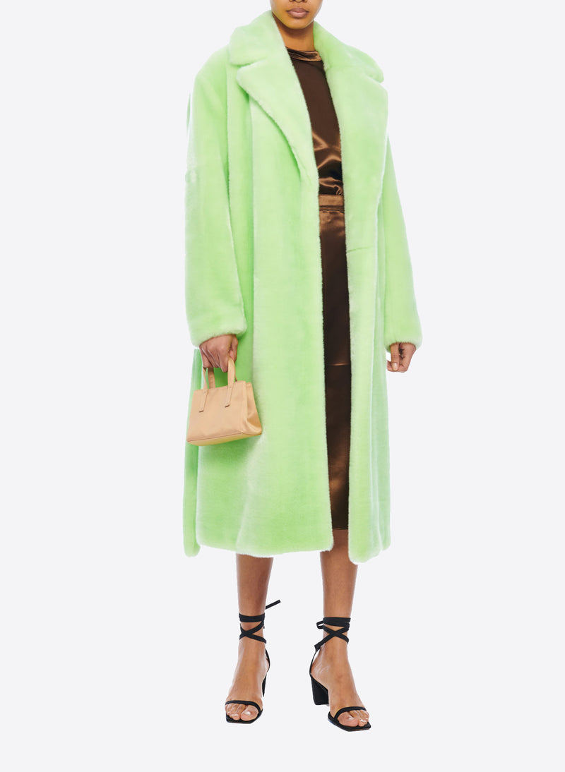 Luxe Faux Fur Oversized Coat Mint-6