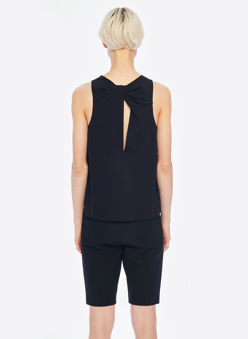 Structured Crepe Tank Black-2