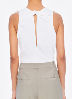 Structured Crepe Tank White-4
