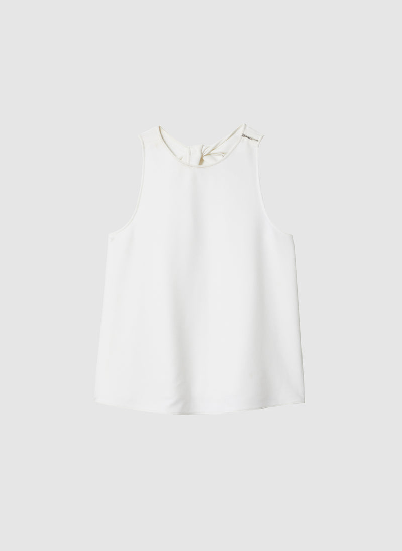 Structured Crepe Tank White-8