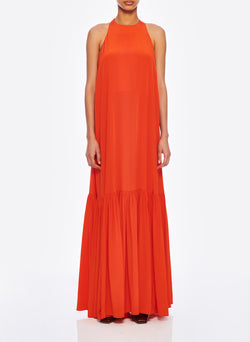Silk CDC Halter Dress Blood Orange-1