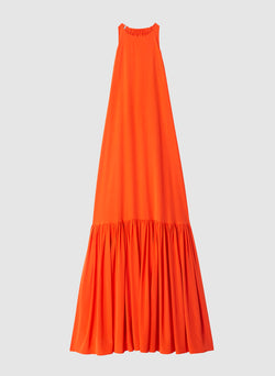 Silk CDC Halter Dress Blood Orange-8