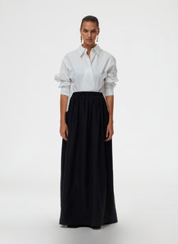 Taffeta Pull On Cocoon Skirt Taffeta Pull On Cocoon Skirt