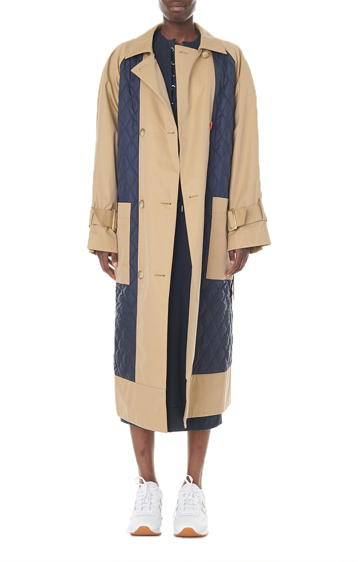 Finn Twill Quilted Mix Trench Finn Twill Quilted Mix Trench