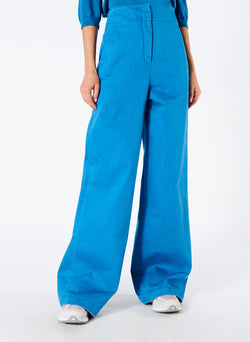 Garment Dyed Twill Wide Leg Jean Sky Blue-1