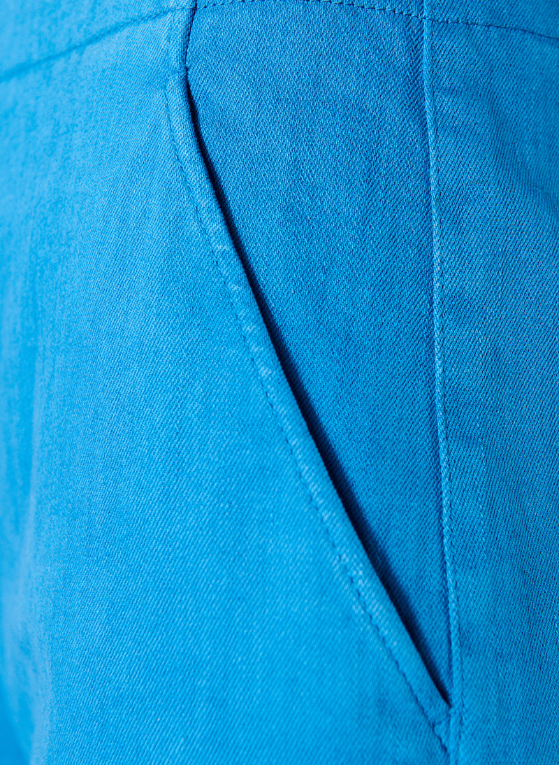 Garment Dyed Twill Wide Leg Jean Sky Blue-4