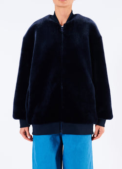Luxe Faux Fur Track Jacket Luxe Faux Fur Track Jacket
