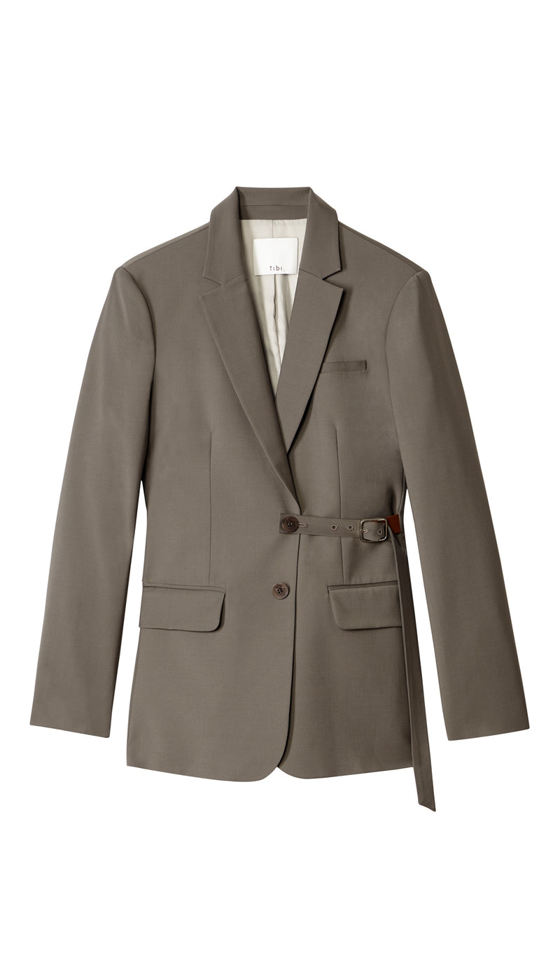 Tablier Plainweave Blazer with Removable Belt Tablier Plainweave Blazer with Removable Belt
