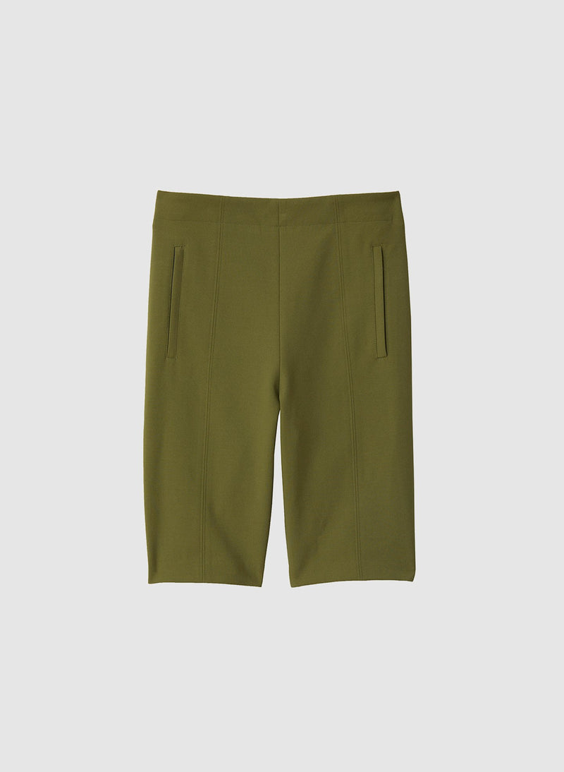 Anson Stretch Biker Short Army Green-7