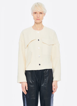 Basketweave Jacket Ivory-8