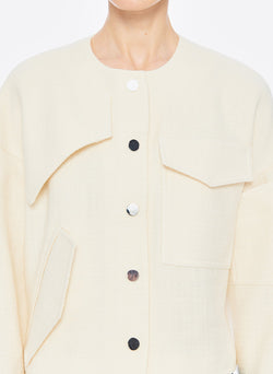 Basketweave Jacket Ivory-11