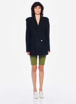 Basketweave Sculpted Blazer Black-1