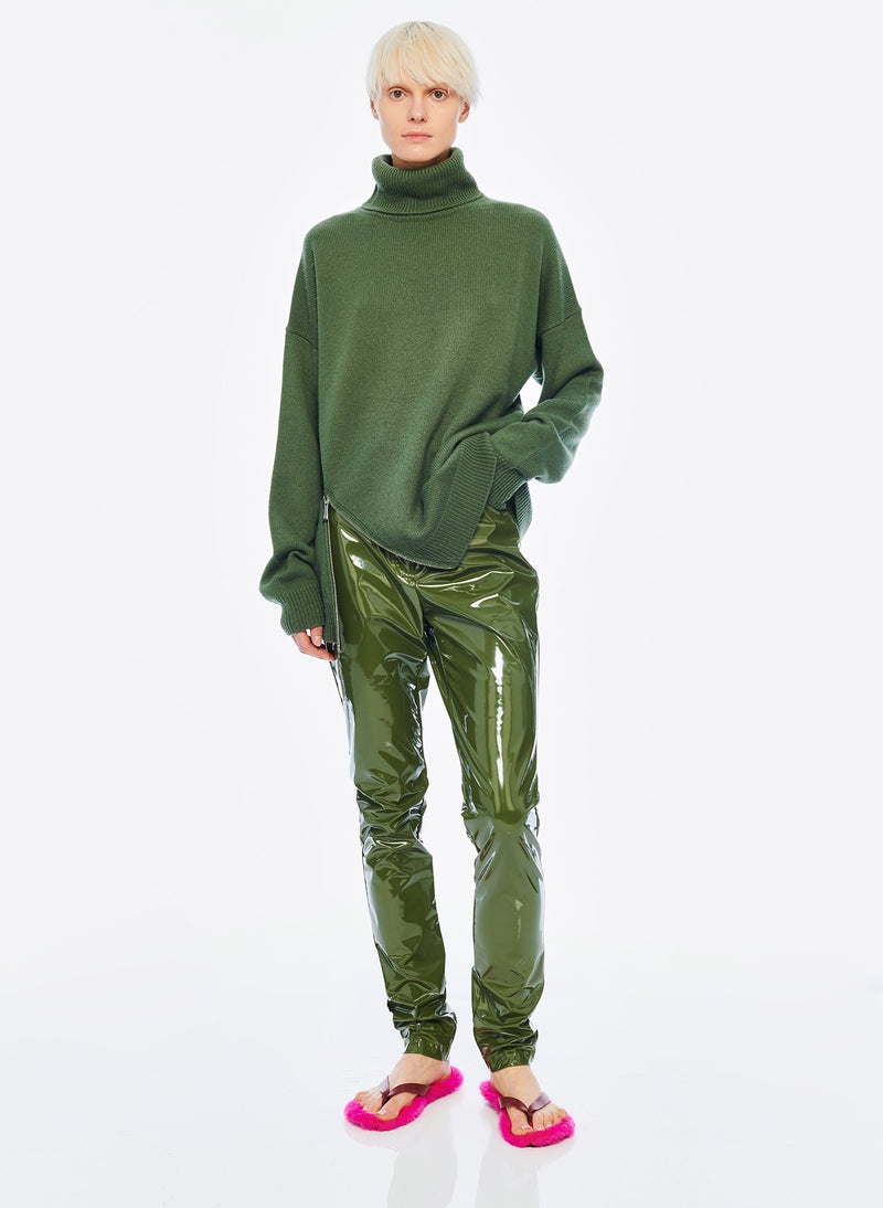Cashmere Turtleneck Army Green-6