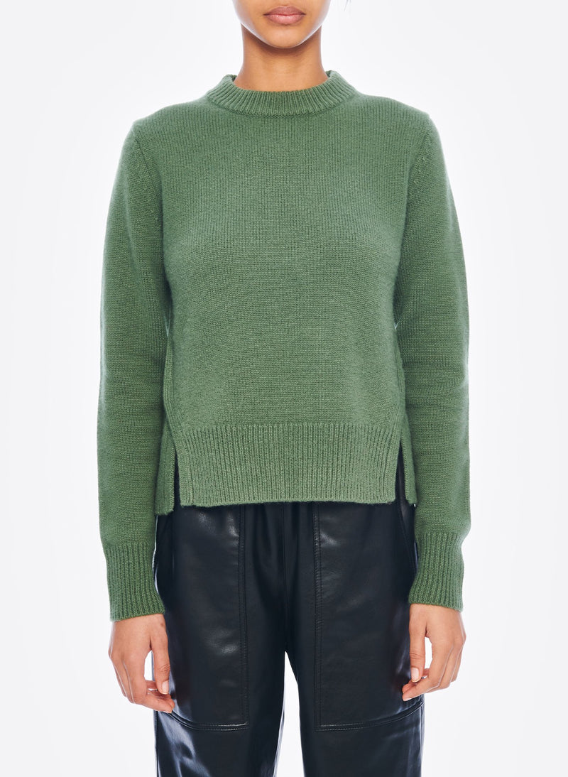 Cashmere Mini Pullover Army Green-1