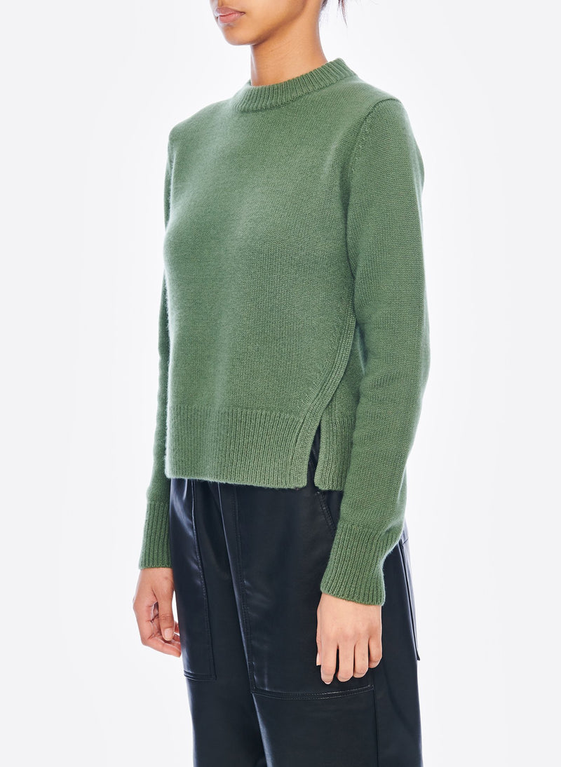 Cashmere Mini Pullover Army Green-2