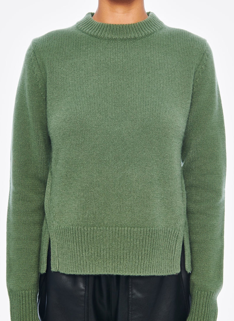 Cashmere Mini Pullover Army Green-5